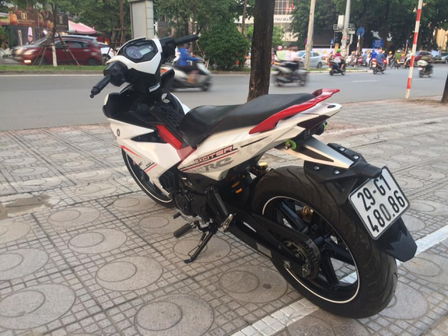 Exciter 150 cc Fi mau do trang bien Ha Noi 5 so can ban - 2