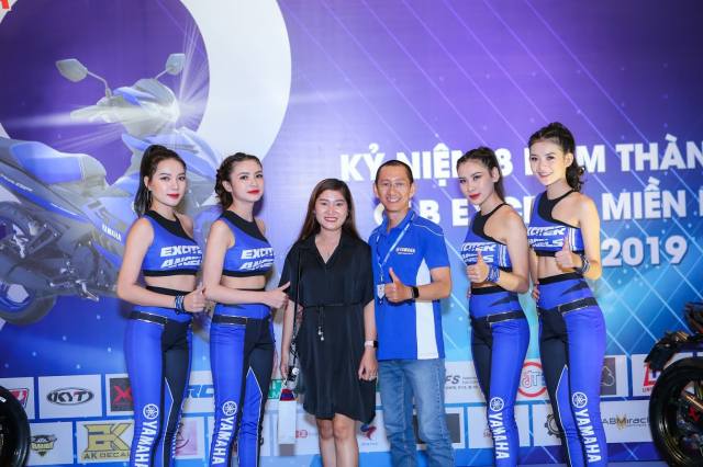 Yamaha Exciter Angels khuay dong cung CLB Exciter Mien Nam trong dai tiec lan 8 - 18