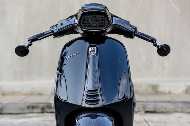 Super Vespa Sprint do cuc ngau voi phong thai Full Black - 4