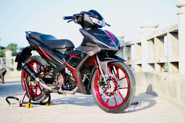 Exciter 150 do an tuong voi bo canh full Carbon dung nghia - 13