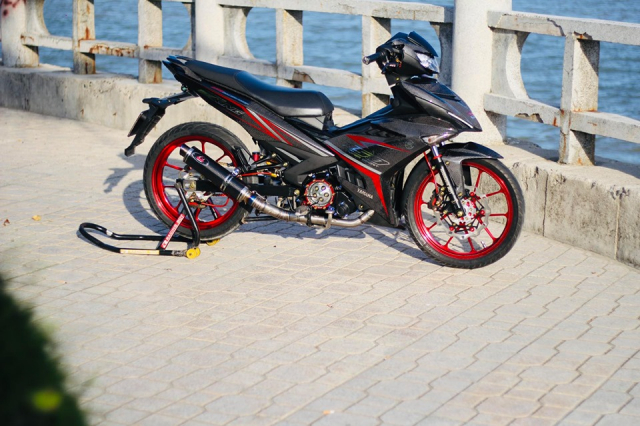 Exciter 150 do an tuong voi bo canh full Carbon dung nghia - 19