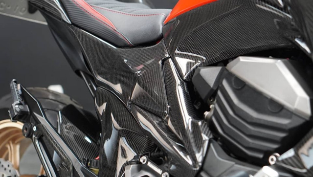 Kawasaki Z800 do day dang cap voi dien mao full Carbon - 7
