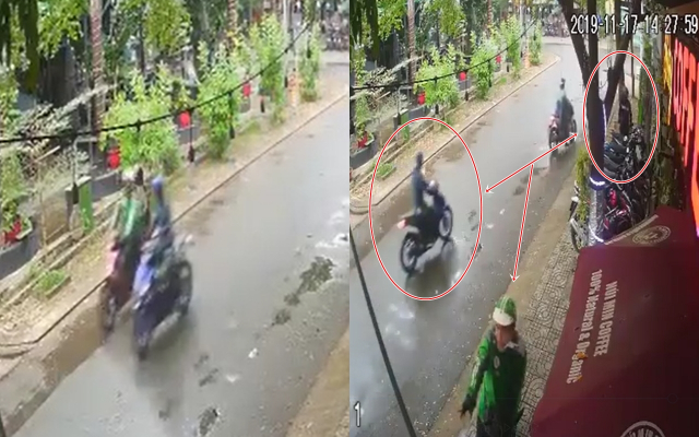 Clip 3 doi tuong chay Exciter gia dang GrabBike dan canh cuop Wave