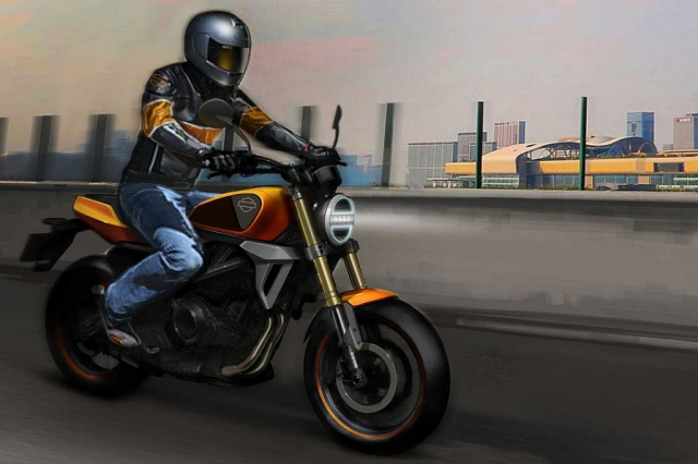 HarleyDavidson HD350 se dung chung dong co voi Benelli 350S - 8